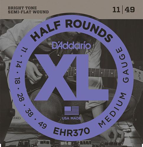 D'Addario EHR370 Half Round Electric Guitar Strings Med 11-49