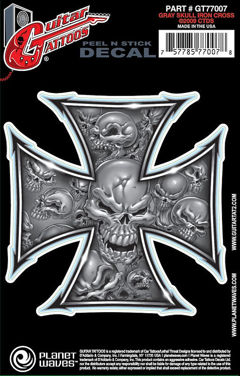 D'Addario Guitar Tattoo Iron Cross
