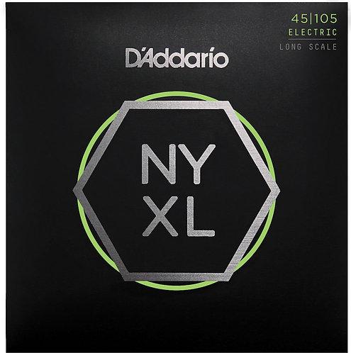 D'Addario NYXL45105 Nickel Wound Bass Guitar Strings Light Top / Med BTM 45-105