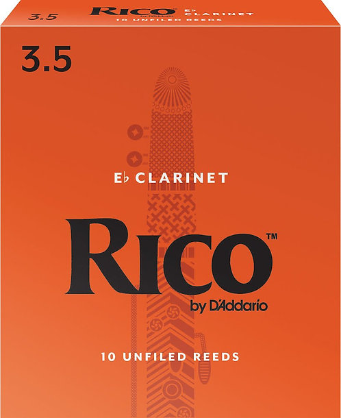 Rico by D'Addario Alto Clarinet Reeds Strength 3.5 10-pack