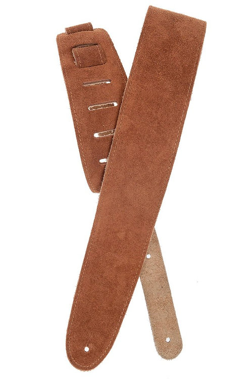 D'Addario Suede Guitar Strap Honey