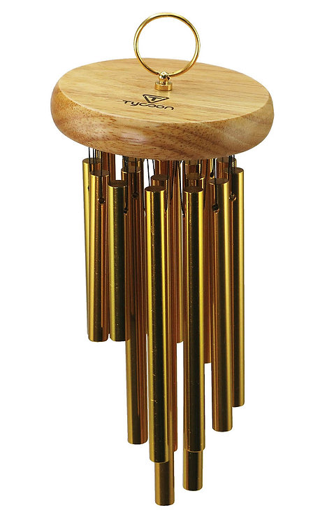 18 Gold Plated Chimes on Siam Oak Bar