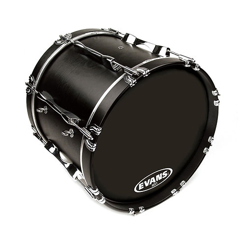 Evans MX1 Black Marching Bass Drum Head 20 Inch