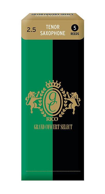 Rico Grand Concert Select Tenor Sax Reeds Strength 2.5 5-pack