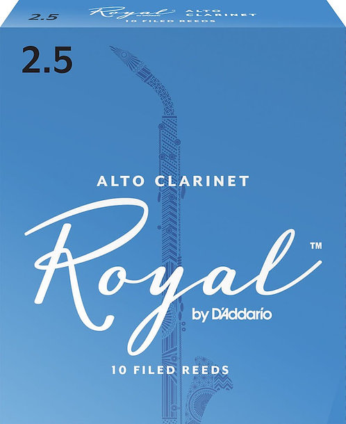 Royal by D'Addario Alto Clarinet Reeds Strength 2.5 10 Pack