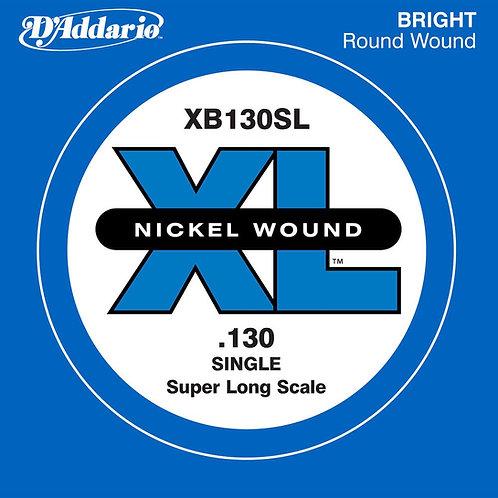 D'Addario XB130 Nickel Wound Bass Guitar SGL String Super Long .130