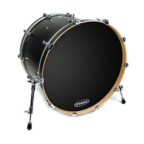 Evans EQ1 Resonant Black Bass Drum Head 20 Inch