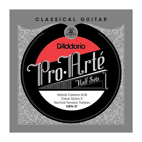 D'Addario HBN-3T Pro-Arte Hybrid Carbon G/B Classical Guitar Half Set Normal Ten