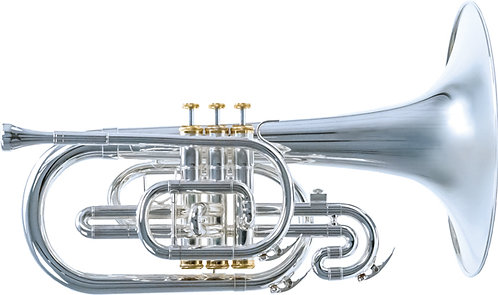 System Blue Traditional F Mellophone