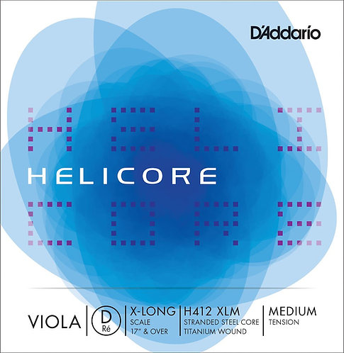 D'Addario Helicore Viola SGL D String X Long Scale Med Tension