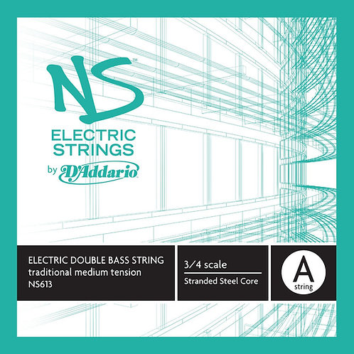 D'Addario NS Electric Traditional Bass SGL A String 3/4 Scale Med Tension
