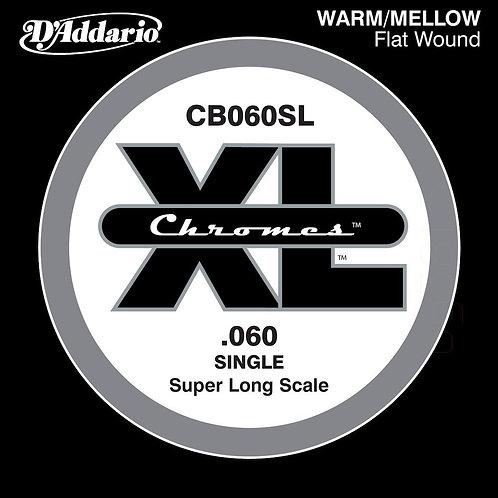 D'Addario CB060SL Chromes Bass Guitar SGL String Super Long .060