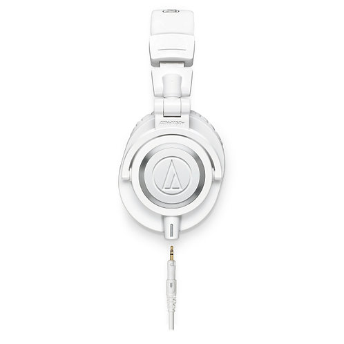 Audio-Technica Closed back hps 45mm white pouch 3 cables 1/4 adptr