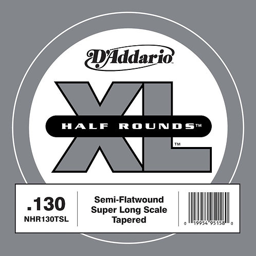 D'Addario NHR130T Half Round Bass Guitar SGL String Long Scale .130 Tapered