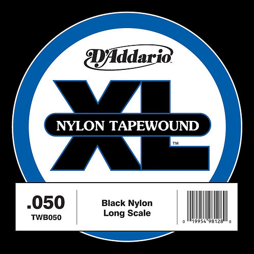 D'Addario TWB050 Nylon Tape Wound Bass Guitar SGL String .050