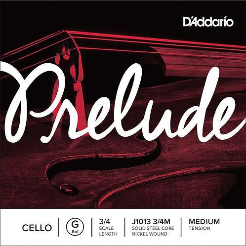 D'Addario Prelude Cello SGL G String 3/4 Scale Med Tension