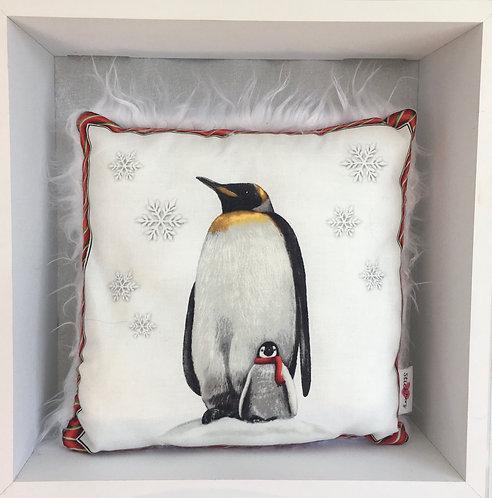 Zierkissen mit Pinguin