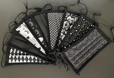 Behelfsmasken Damen Black & White