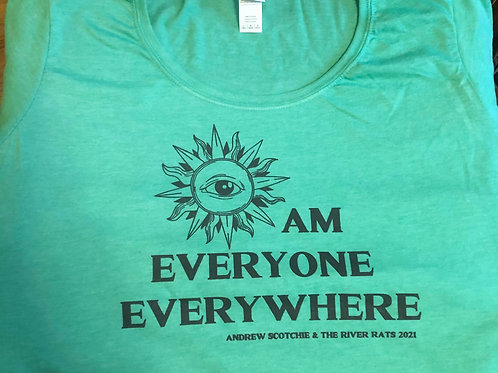 Eye Am Everyone Everywhere Ladies Scoop Neck