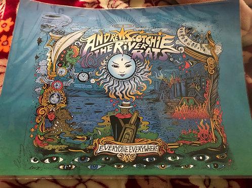 "Commemorative ""Everyone Everywhere"" 18X24 Signed Vinyl Poster"
