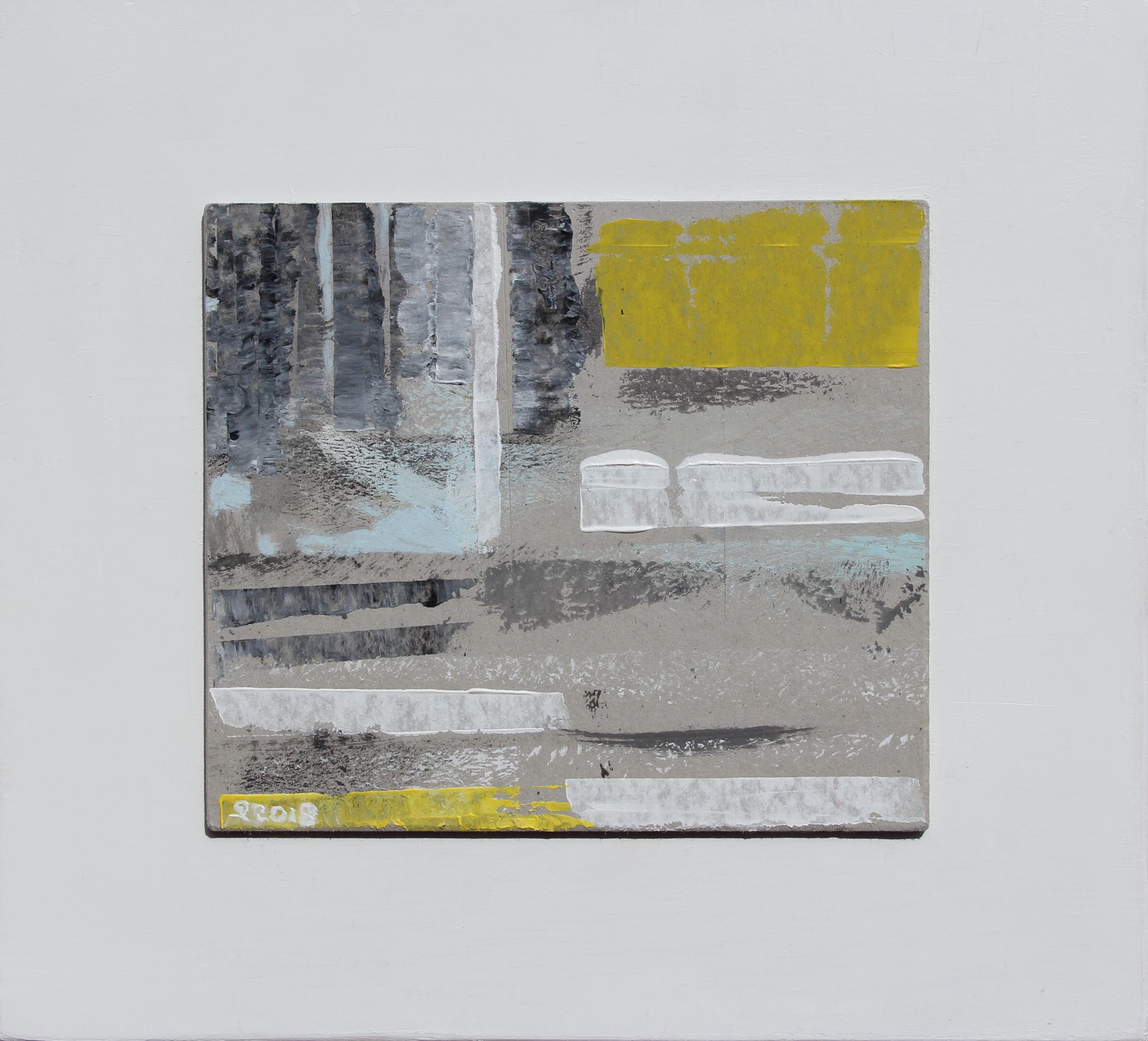 Spazialità, 2018 - acrilico su cartone, 25x25 cm