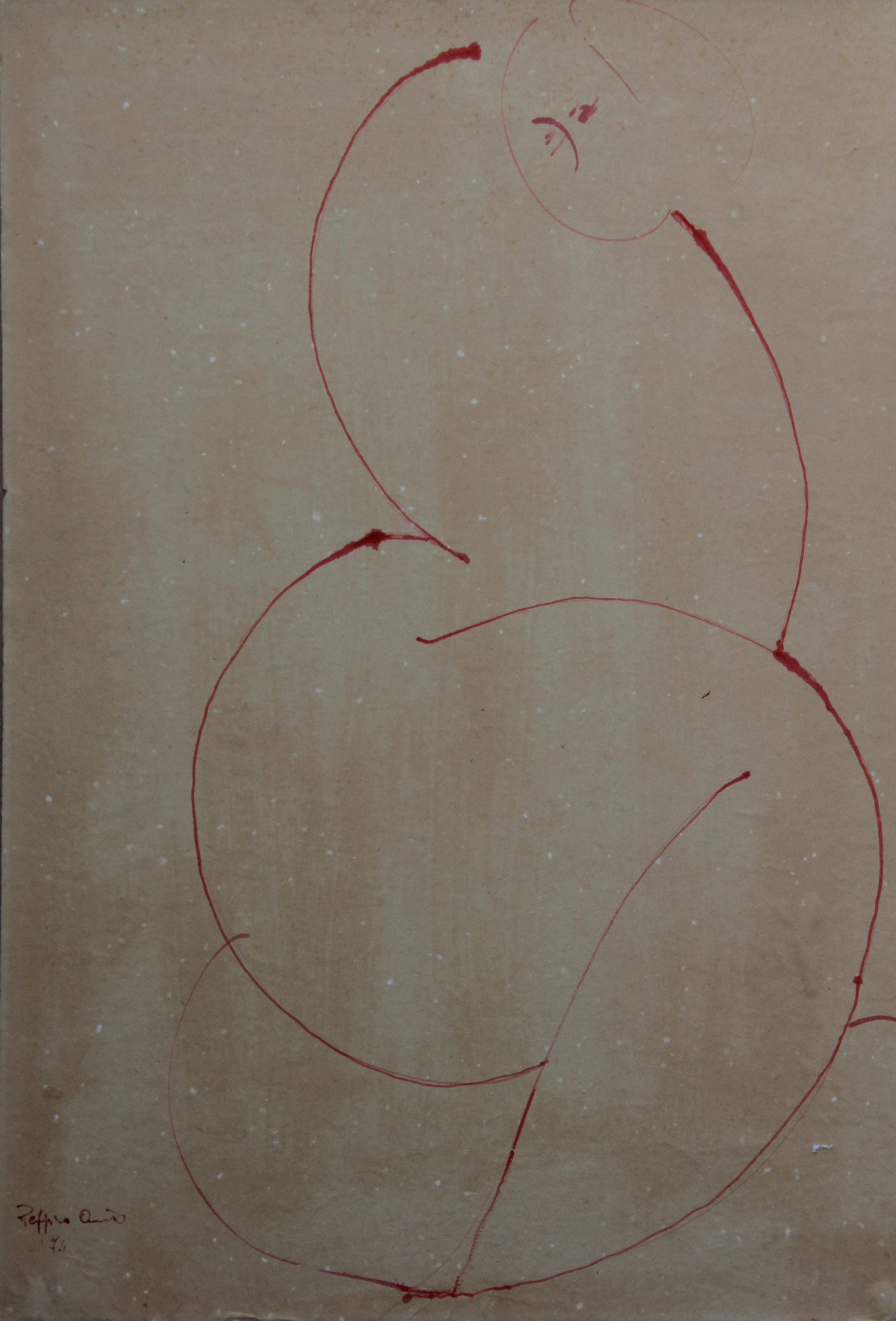Schizzo, 1974 - china  34x46 cm