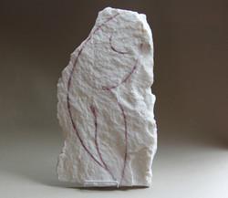 Prove di volo, 2015 - china su marmo  25x45 cm