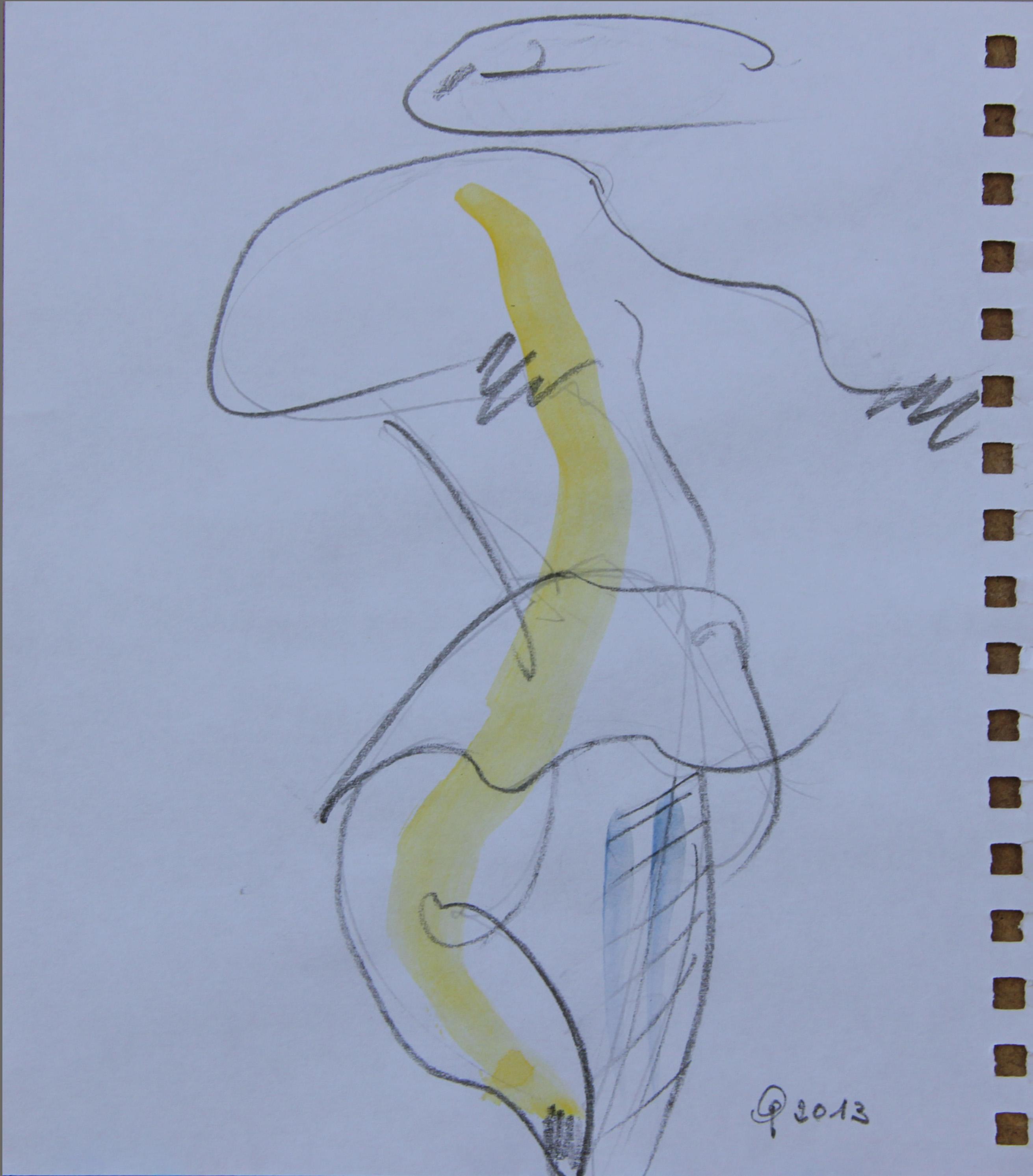 Ballerina, 2013 - acquerello  11x14 cm