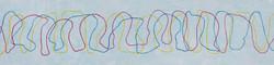 La comunicazione via etere, 2018 - acrilico su legno, 300x60 cm