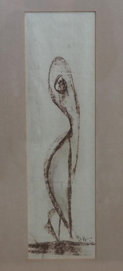 Danza, 1984 - pastello 12x41cm