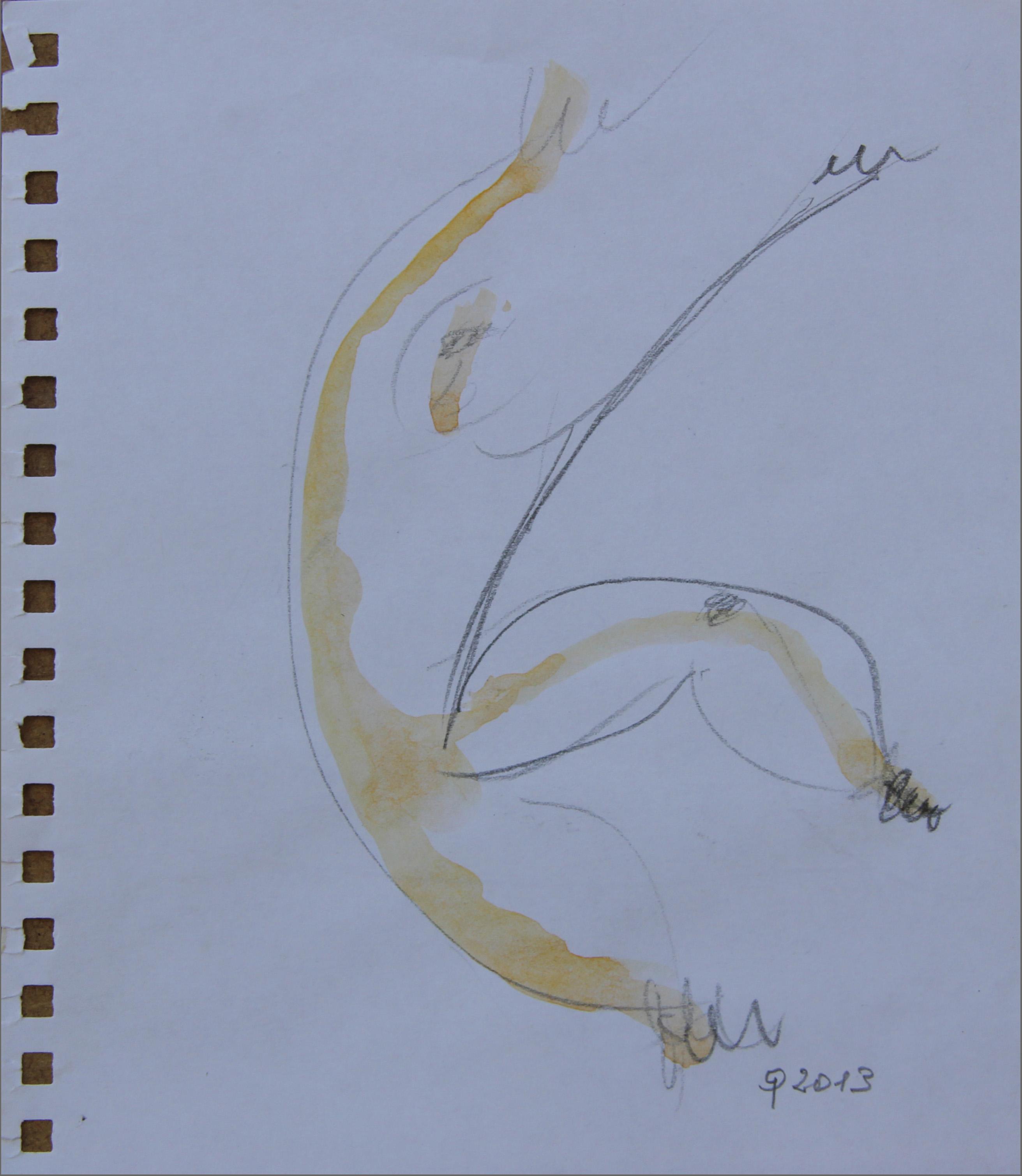 Ballerino, 2013 - matita e acquerello  11x14  cm