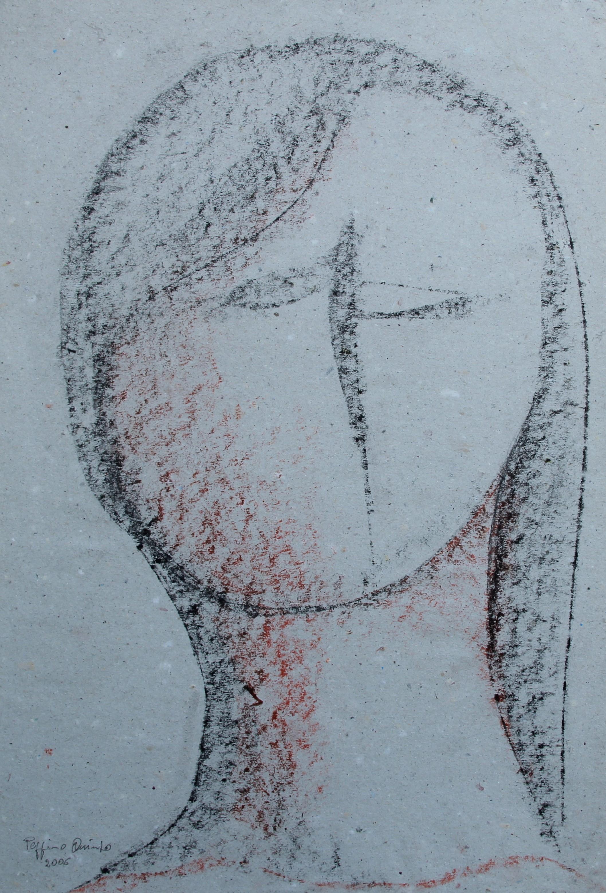 Volto femminile, 2006 - 25 x 37 cm