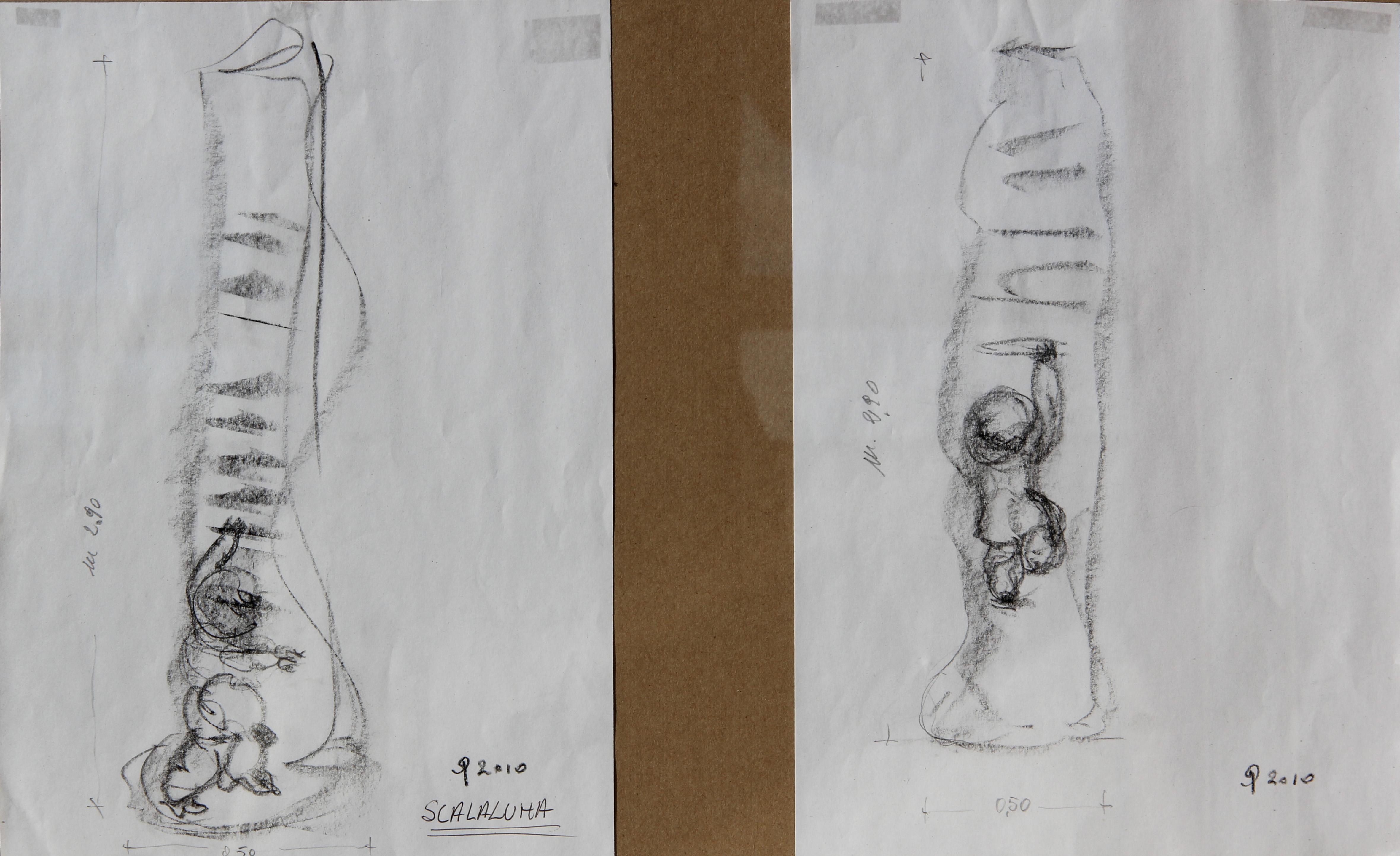 Scalaluna - schizzi, 20x28 cm