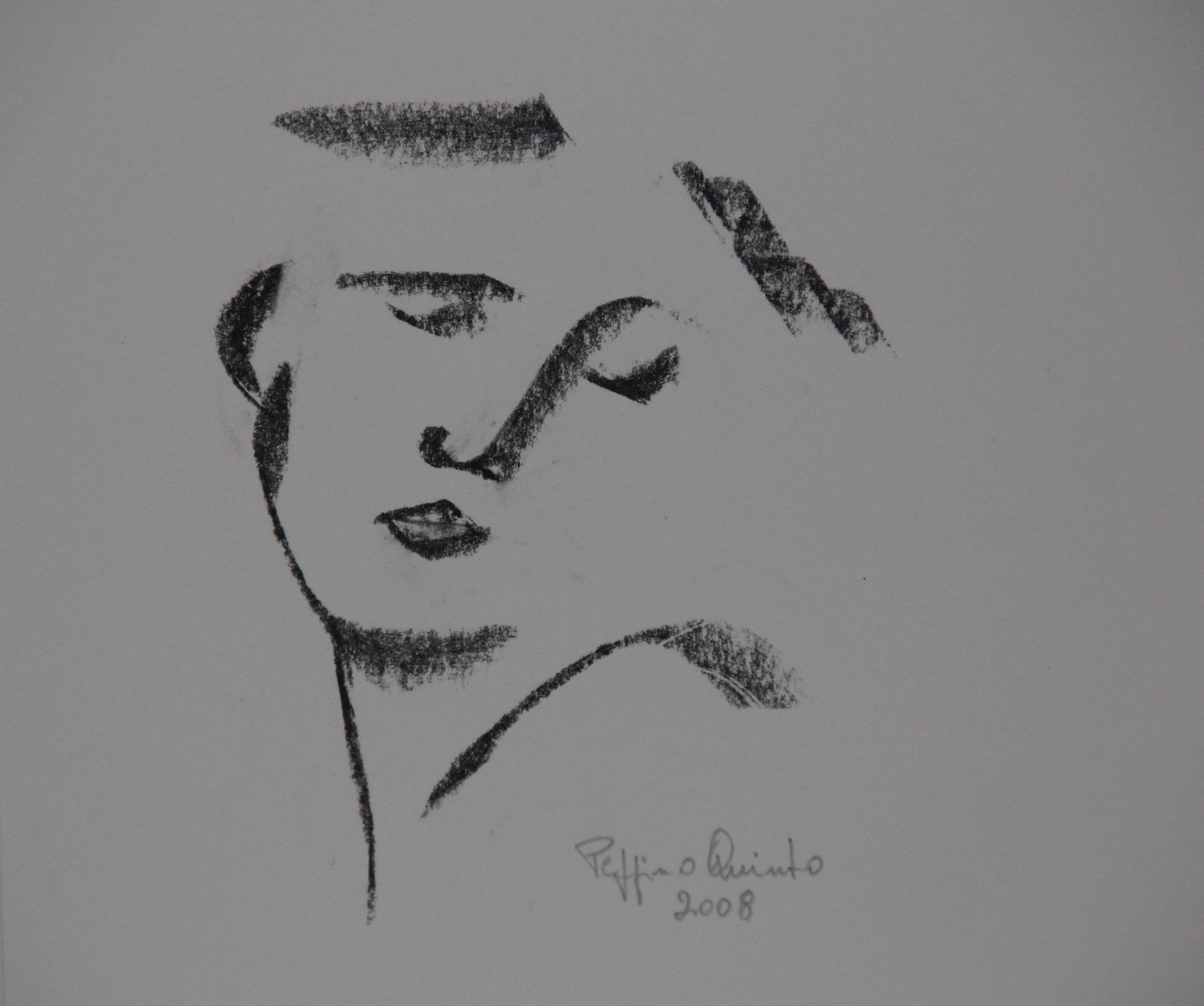 Volto, schizzo, 2008 - 22x22 cm