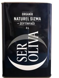 Seroliva Organik Ödüllü Naturel Sızma Zeytinyağı 3 Lt