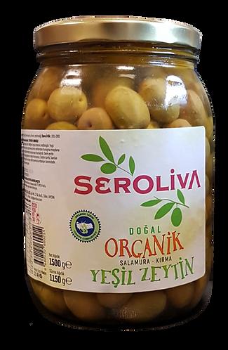 Seroliva Organik Yeşil Kırma Zeytin 1.5 kg