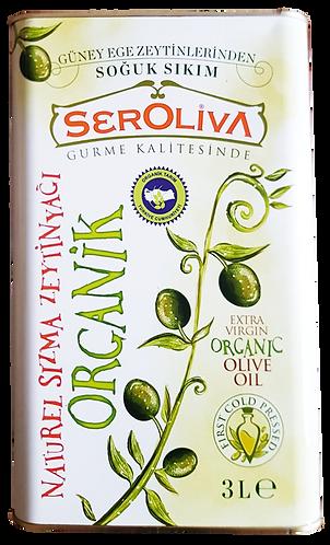 Seroliva Organik Naturel Sızma Zeytinyağı 3 Lt