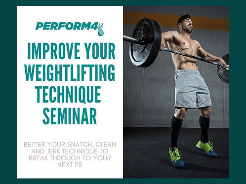 Improve Your Weightlifting Technique Seminar