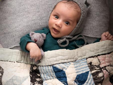 Older newborn baby session