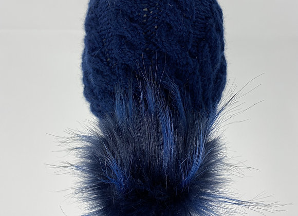 Knitted pompom hats