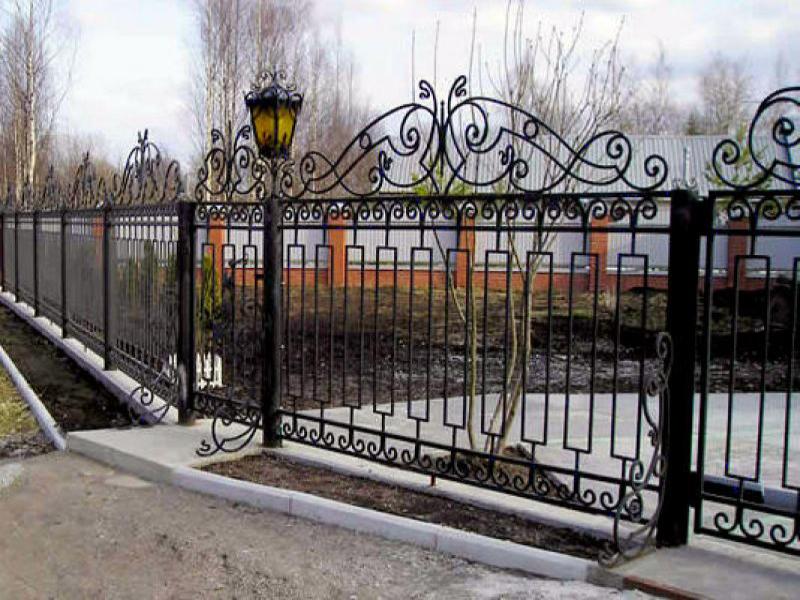 Кованый забор КЗ-46