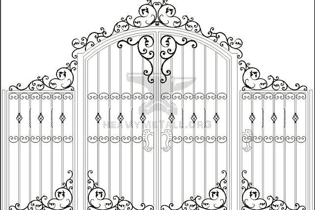 каталог металлоконструкций с элементами художественной ковки