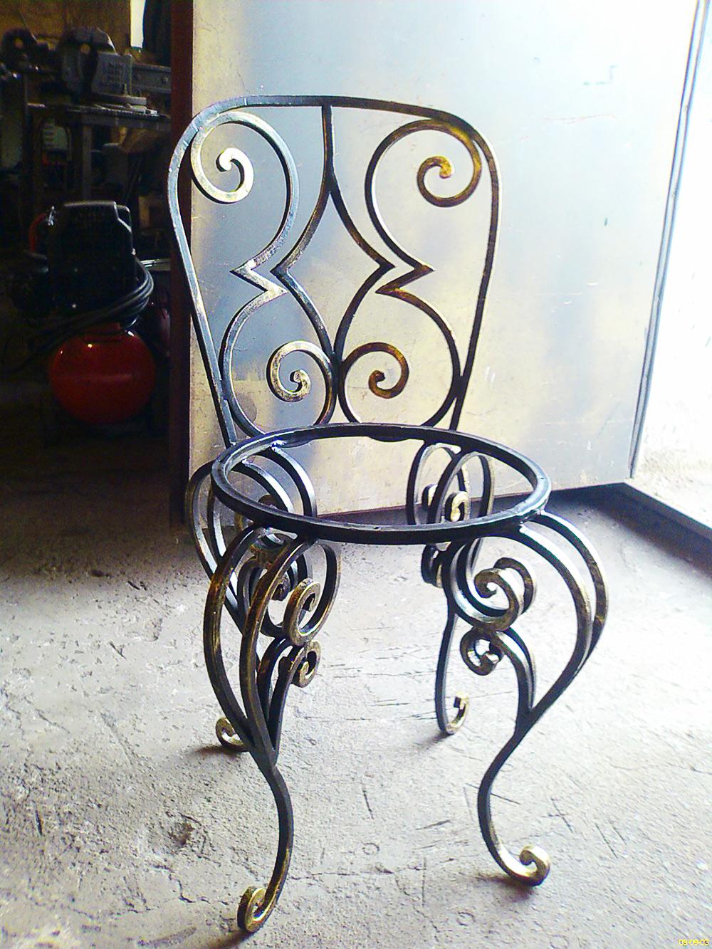 Кованый стул М51