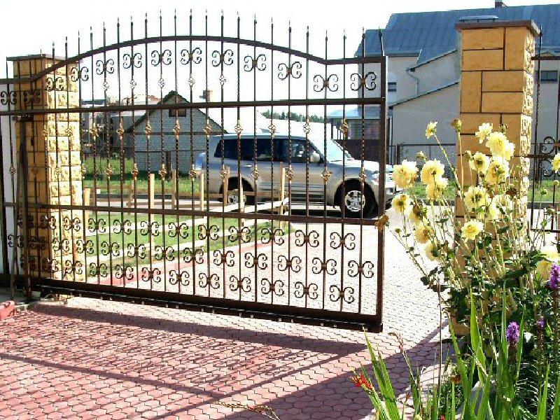 Кованые ворота КВ-34