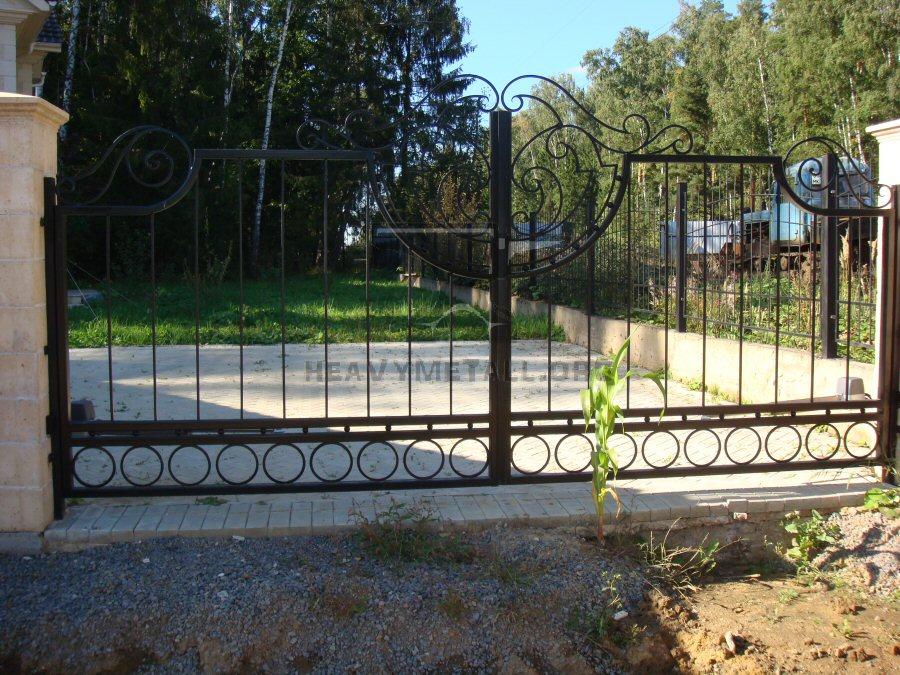 Кованые ворота КВ-44