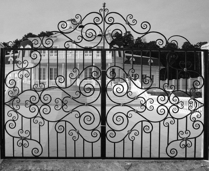 Кованые ворота КВ-32