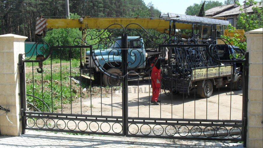Кованые ворота КВ-46