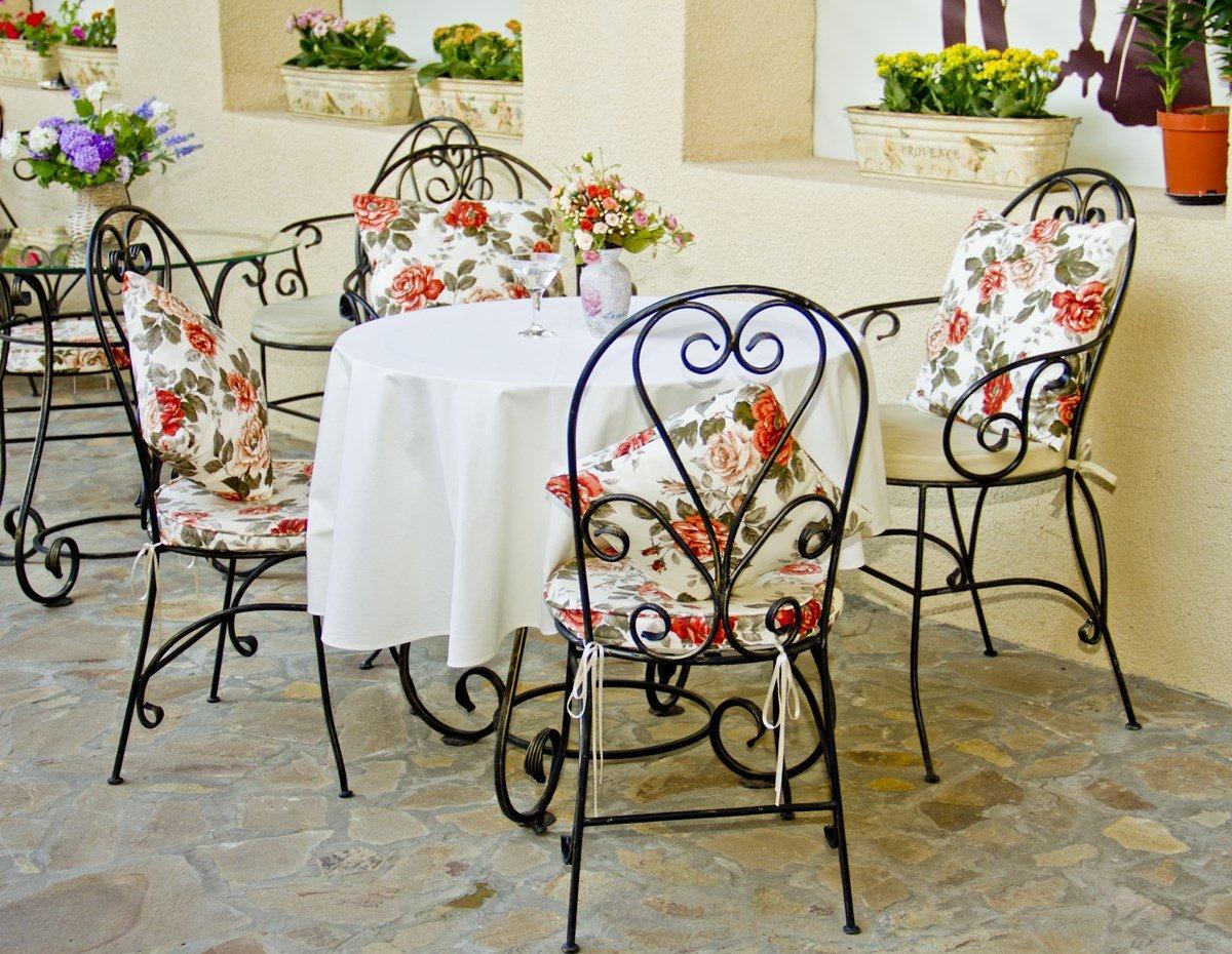 Стол со стульями (худ. ковка) М65