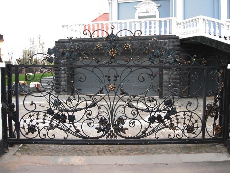Кованые ворота КВ-31