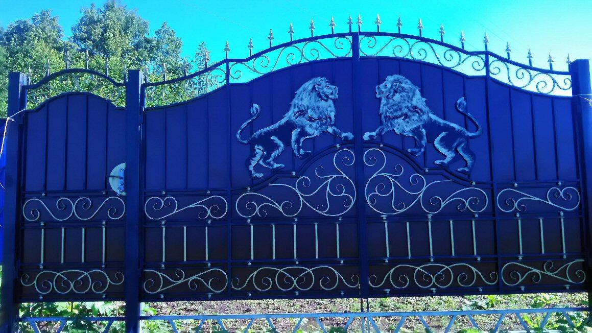 Кованые ворота КВ-3